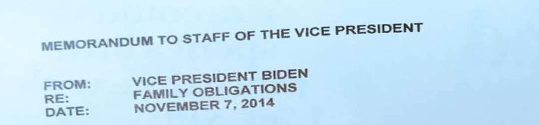 Busy parents, you'll love this…US VP Joe Biden's memo goes viral