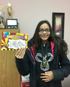 2017 January Student of the Month - Aaliyah