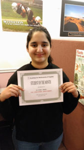 2017 January Student of the Month - Alishba