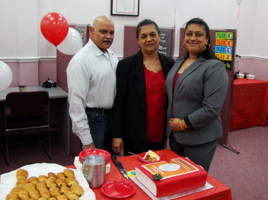Chandra With Her Parents
